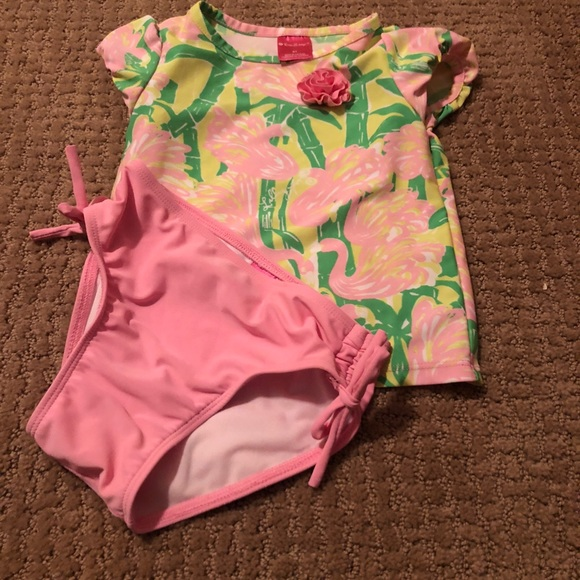 273fafe34c5d6 Lilly Pulitzer Other - Lilly Pulitzer 2 piece Flamingo Swimsuit